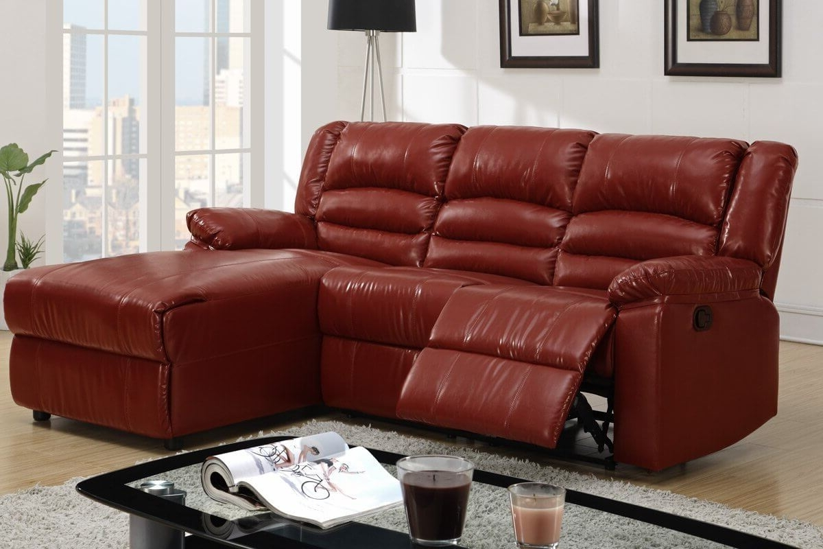 100 Awesome Sectional Sofas Under $1,000 (2018) Regarding Famous Red Leather Sectionals With Chaise (View 9 of 20)