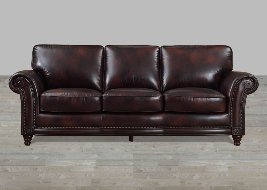100 full grain leather sofa with nailheads with regard to best and newest - Full Grain Leather Sofa