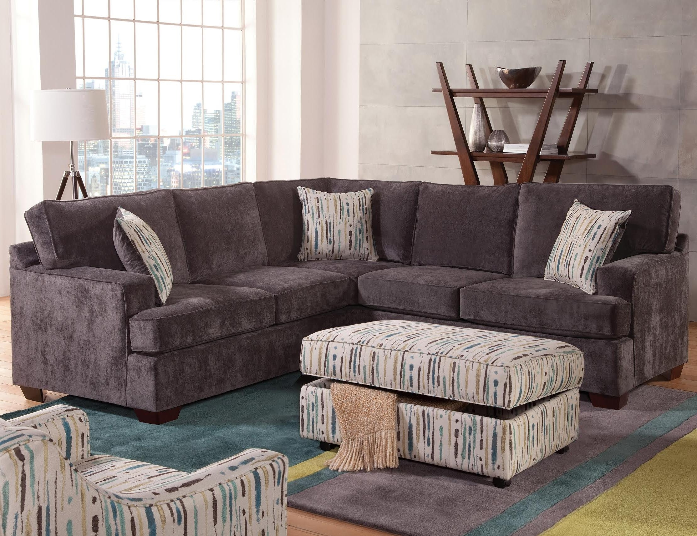 100X100 Sectional Sofas For Favorite Furniture : Zella Sectional Sofa Couch's Corner Berries Sectional (Gallery 1 of 20)