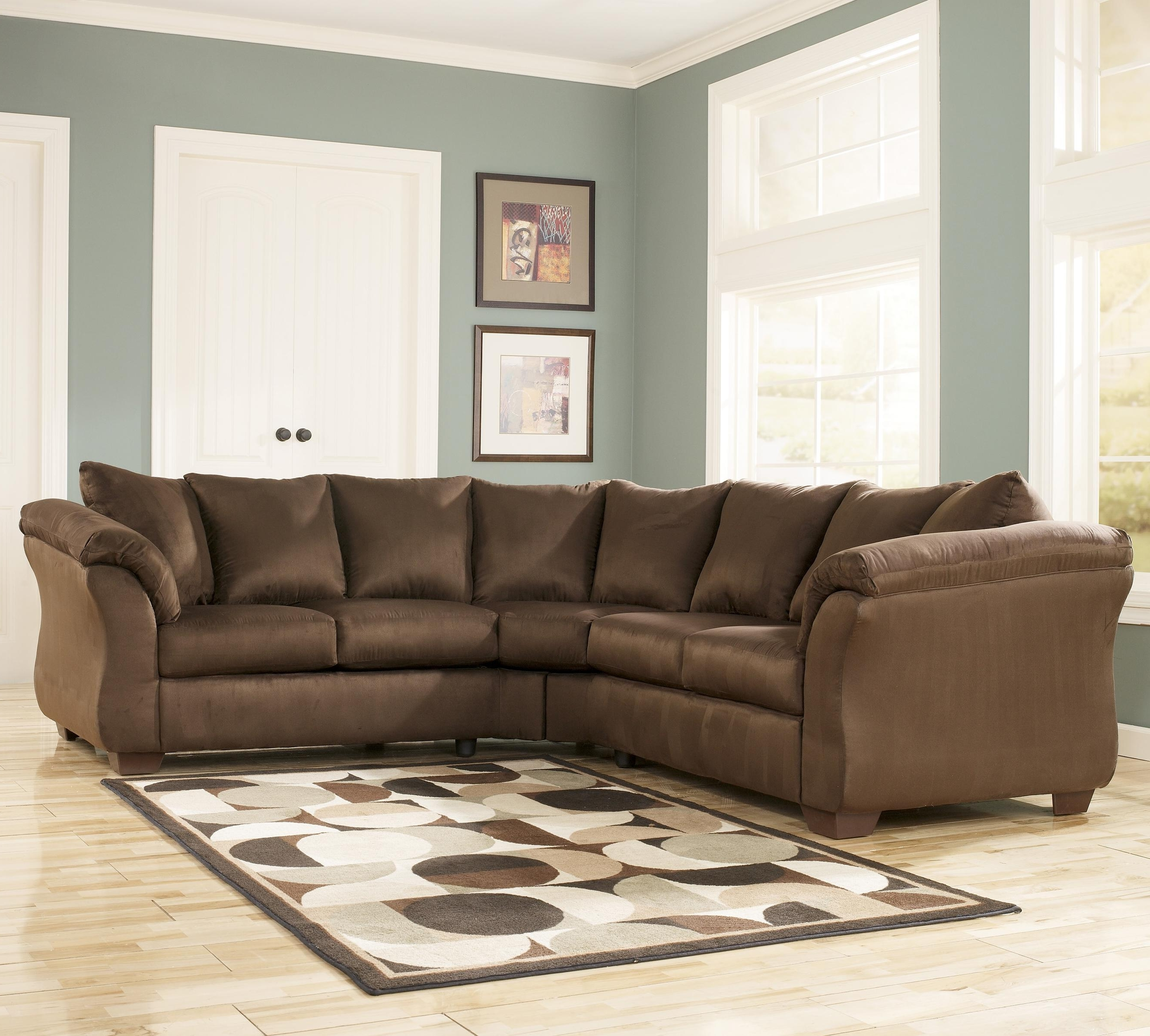 102X102 Sectional Sofas Inside Well Liked Signature Designashley Darcy – Cafe Contemporary Sectional (Gallery 1 of 20)