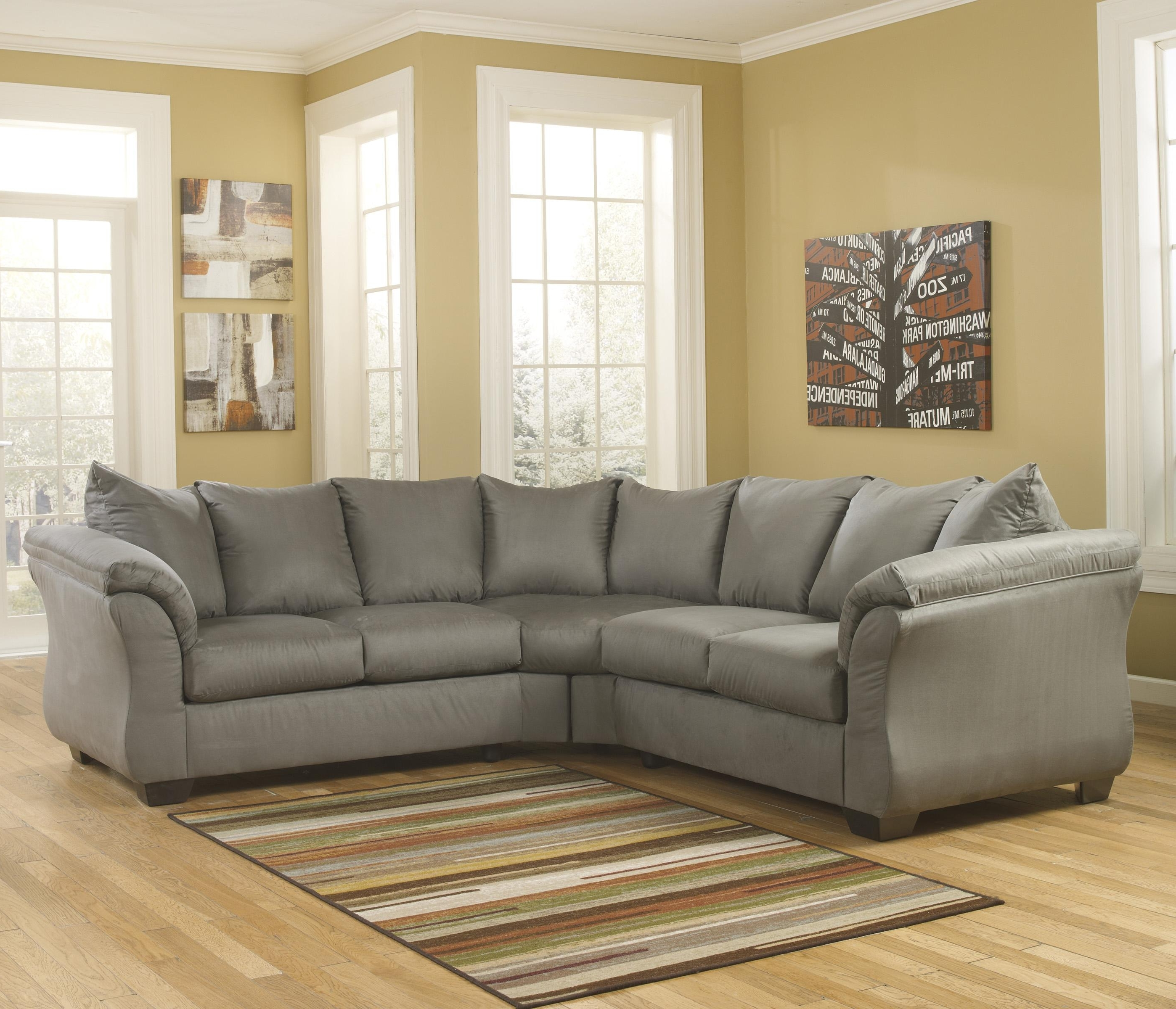 102X102 Sectional Sofas Within Most Recently Released Signature Designashley Darcy – Cobblestone Contemporary (View 4 of 20)