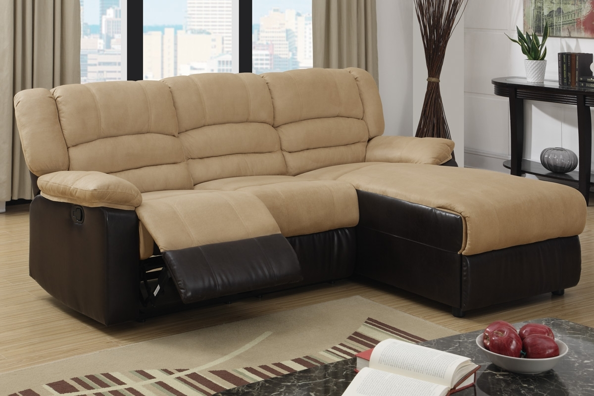 2 Pc Greenbrooke Collection 2 Tone Hazelnut Microfiber And Brown With Regard To Best And Newest London Ontario Sectional Sofas (View 1 of 20)