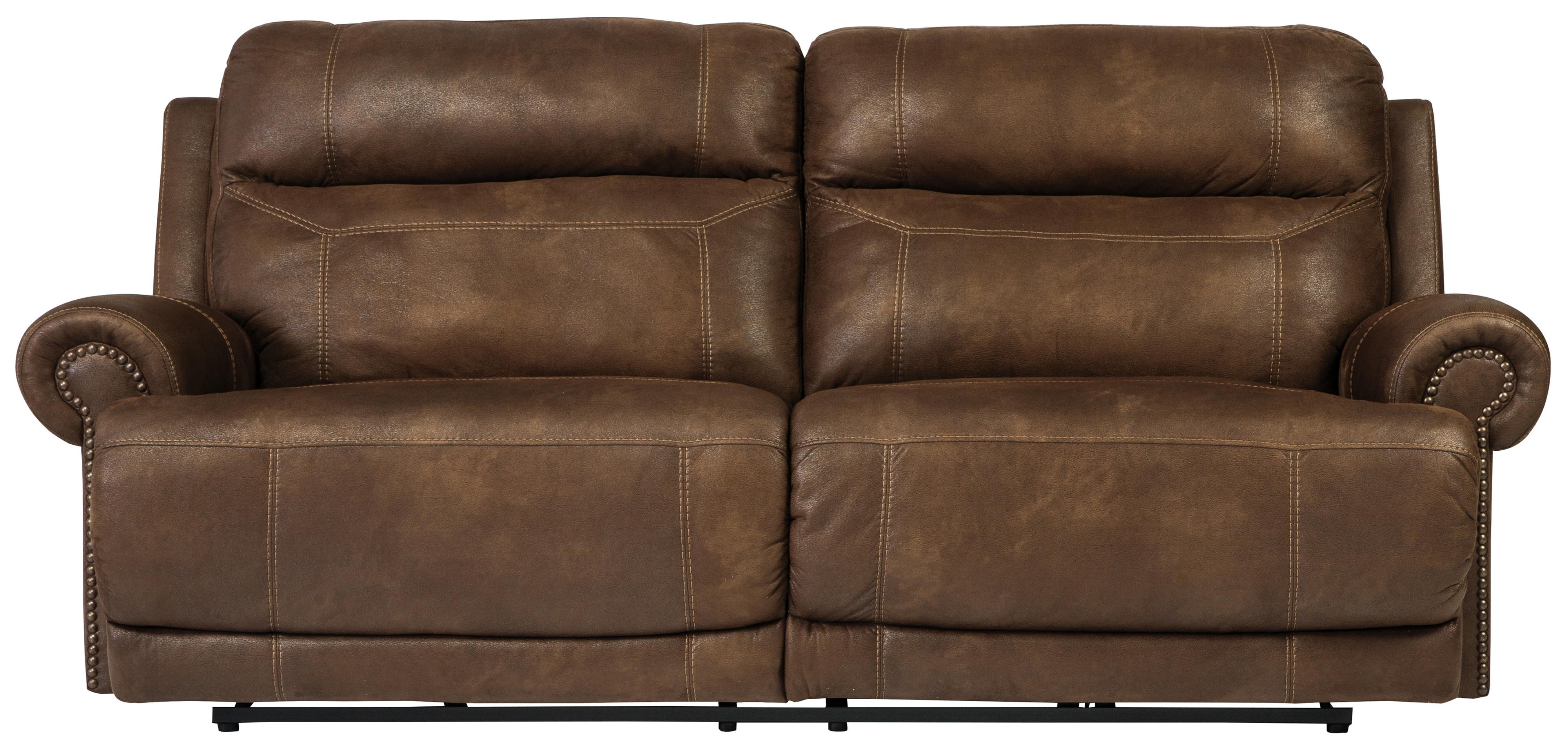 2 Seat Sectional Sofas Within Recent Signature Designashley Cayman Brown 3840081 2 Seat Reclining (View 6 of 20)