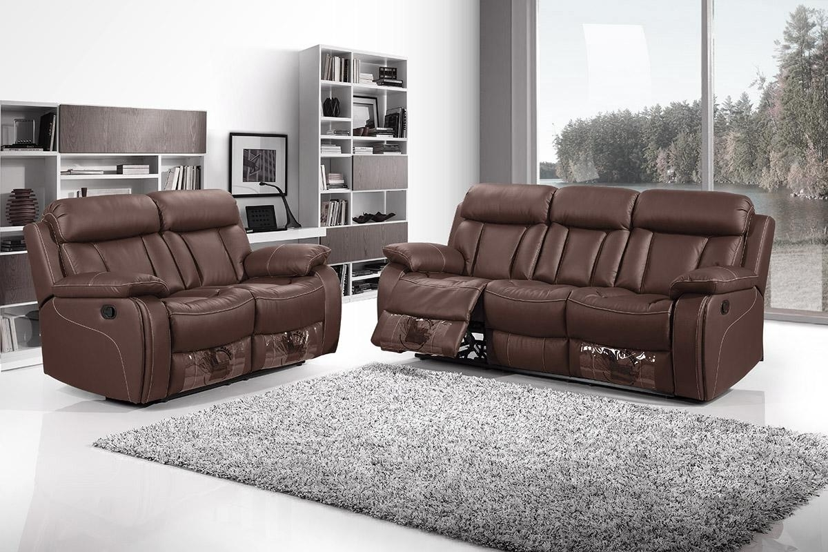 2 Seater Recliner Leather Sofas With Regard To Best And Newest 3 Seater Recliner Sofa Best Price 3 Seat Reclining Sofa With Cup (View 5 of 20)