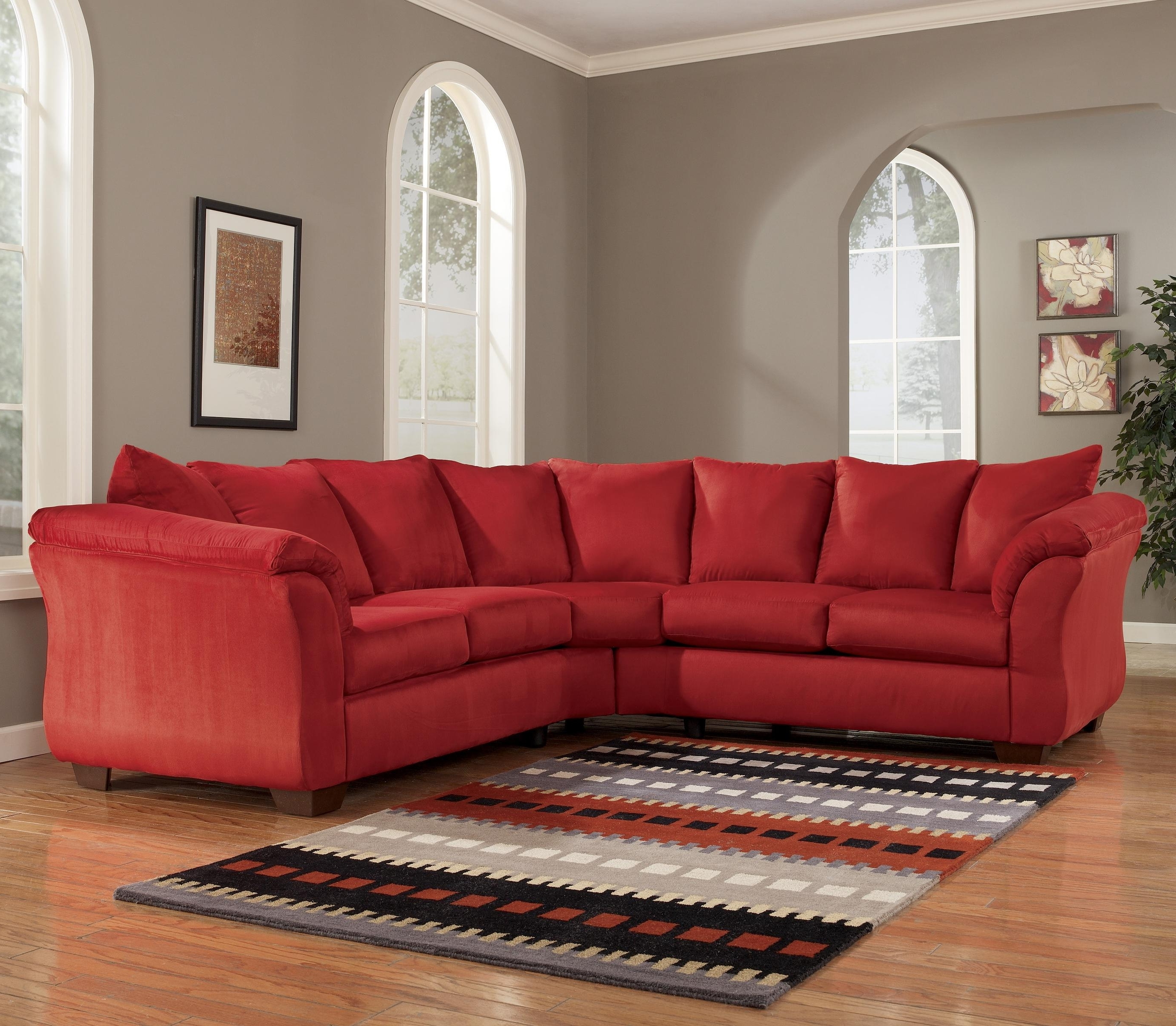 2018 102X102 Sectional Sofas Inside Signature Designashley Darcy – Salsa Contemporary Sectional (View 14 of 20)