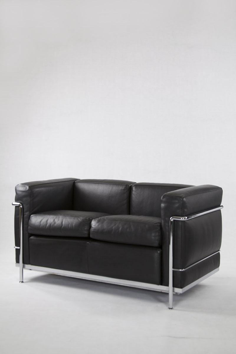 2018 4 Seat Leather Sofas For Vintage Ic2 Two Seater Leather Sofa From Cassina For Sale At Pamono (View 10 of 20)