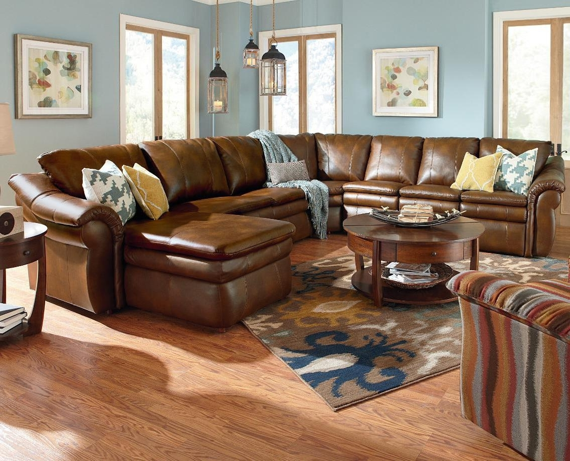 2018 5 Piece Sectional With Las Chaise And 2 Reclinersla Z Boy Intended For Sectional Sofas At Lazy Boy (View 18 of 20)