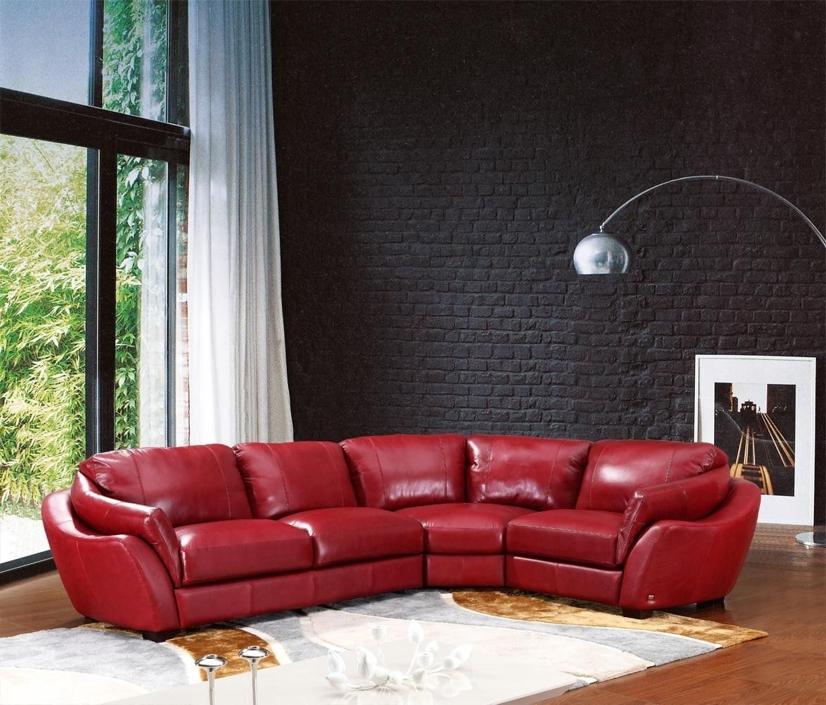 2018 622Ang Modern Red Italian Leather Sectional Sofa (View 8 of 20)