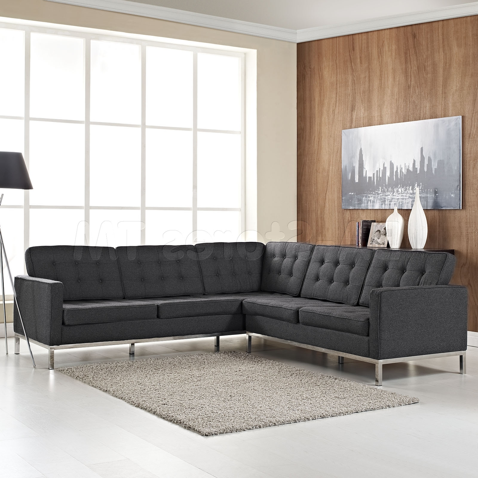 2018 Affordable Tufted Sofas Throughout Couches Design New In Impressive Reversible Sectional Sofa Chaise (View 1 of 20)