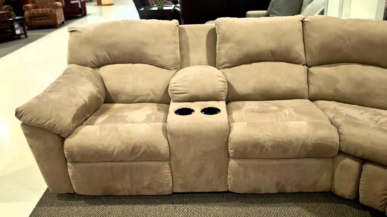 2018 Ashley Amazon Mocha Sectional – Youtube Regarding Nebraska Furniture Mart Sectional Sofas (View 5 of 20)