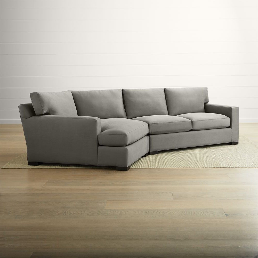 2018 Axis Ii 2 Piece Right Arm Angled Chaise Sectional Sofa Regarding Angled Chaise Sofas (View 2 of 20)