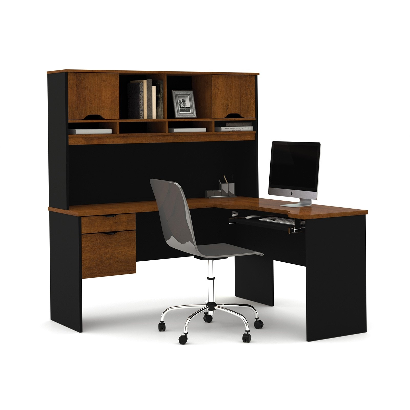 2018 Bestar Innova L Shape Computer Desk – Walmart With Brown Computer Desks (View 1 of 20)