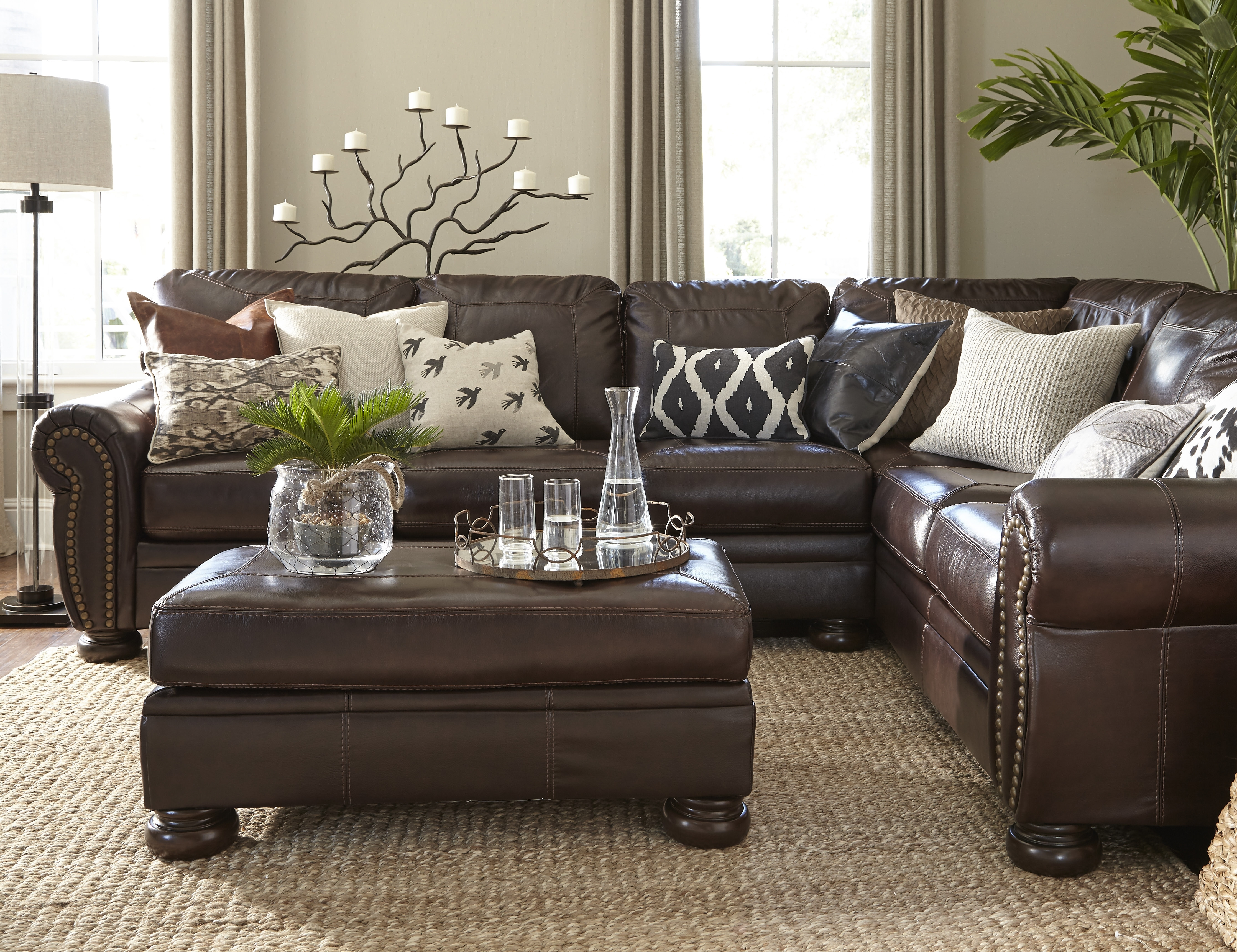 2018 Brown Sofa Chairs Pertaining To Living Room Colors With Brown Couch Mixing Leather Sofa With (View 10 of 20)