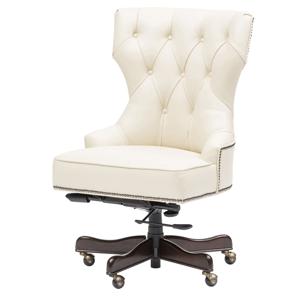 2018 Chair : White Leather Office Chair Without Arms John Lewis White With Executive Office Chairs Without Arms (View 1 of 20)