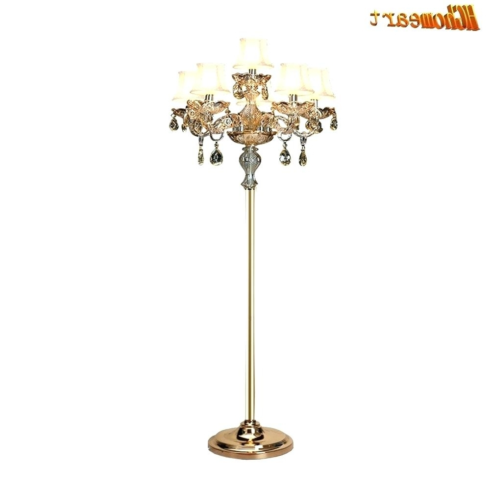 2018 Chandeliers Design : Magnificent Floor Lamps Chrome Crystal Lamp Within Standing Chandeliers (View 1 of 20)