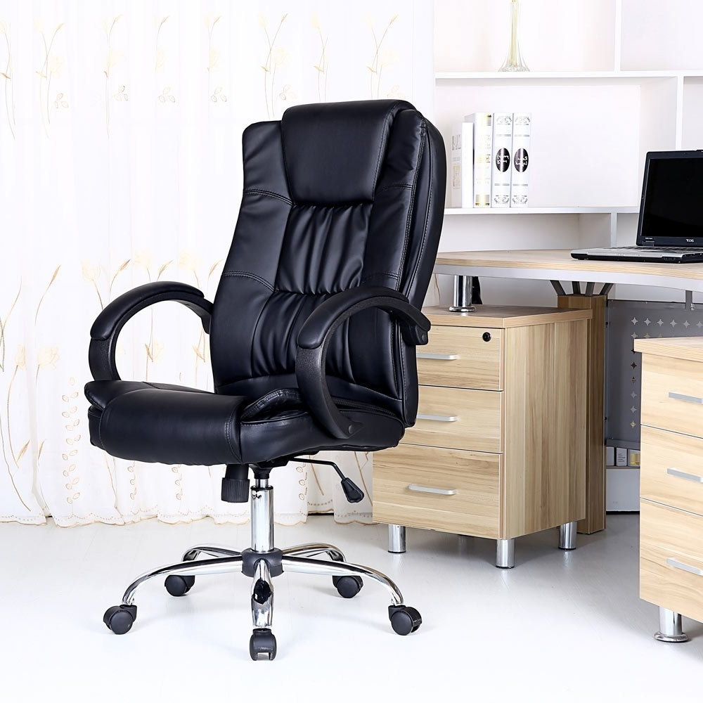 2018 Computer Desks And Chairs Intended For Modern Office Desk Swivel Desk Chair Wood Office Desk Task Chair (View 11 of 20)