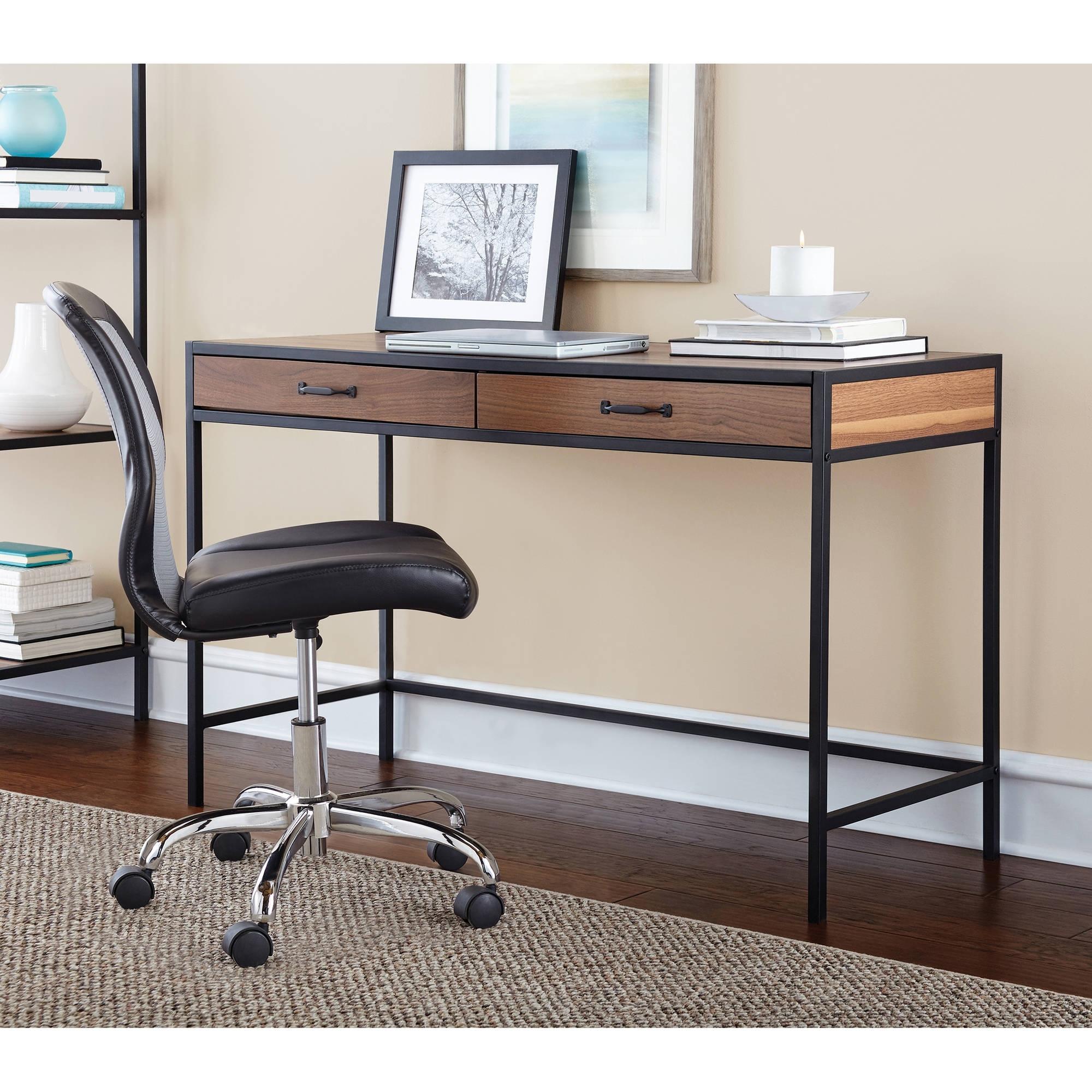 2018 Computer Desks At Walmart In Mainstays Metro Desk, Multiple Finishes – Walmart (View 18 of 20)