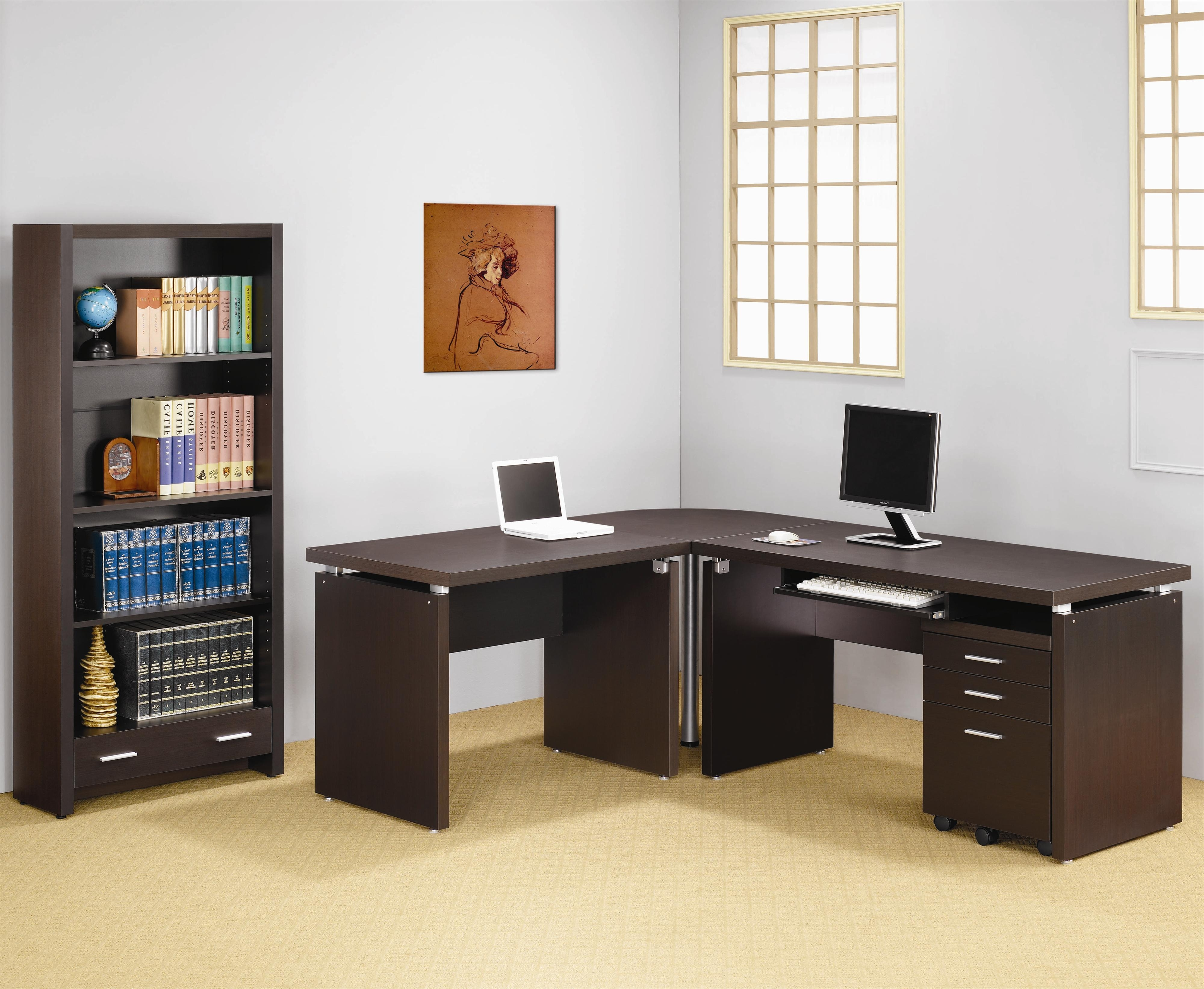2018 Computer Desks For Bedrooms Inside Numerable Variety Of L Shaped Computer Desk – Bellissimainteriors (View 1 of 20)