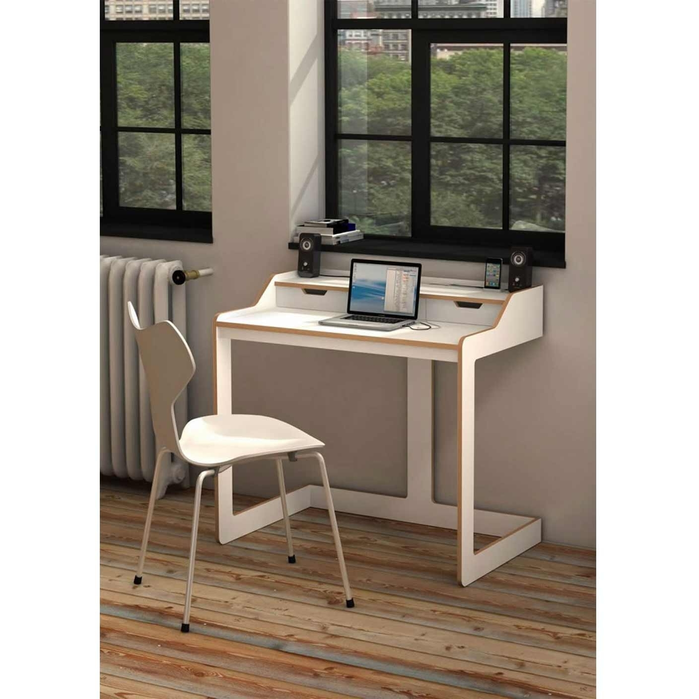 2018 Computer Desks For Small Rooms Intended For Laptop Computer Desks For Small Spaces – Amys Office (View 3 of 20)