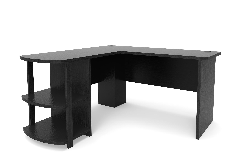 2018 Computer Desks Throughout Kristen Corner L Shaped Computer Desk In Black (View 1 of 20)