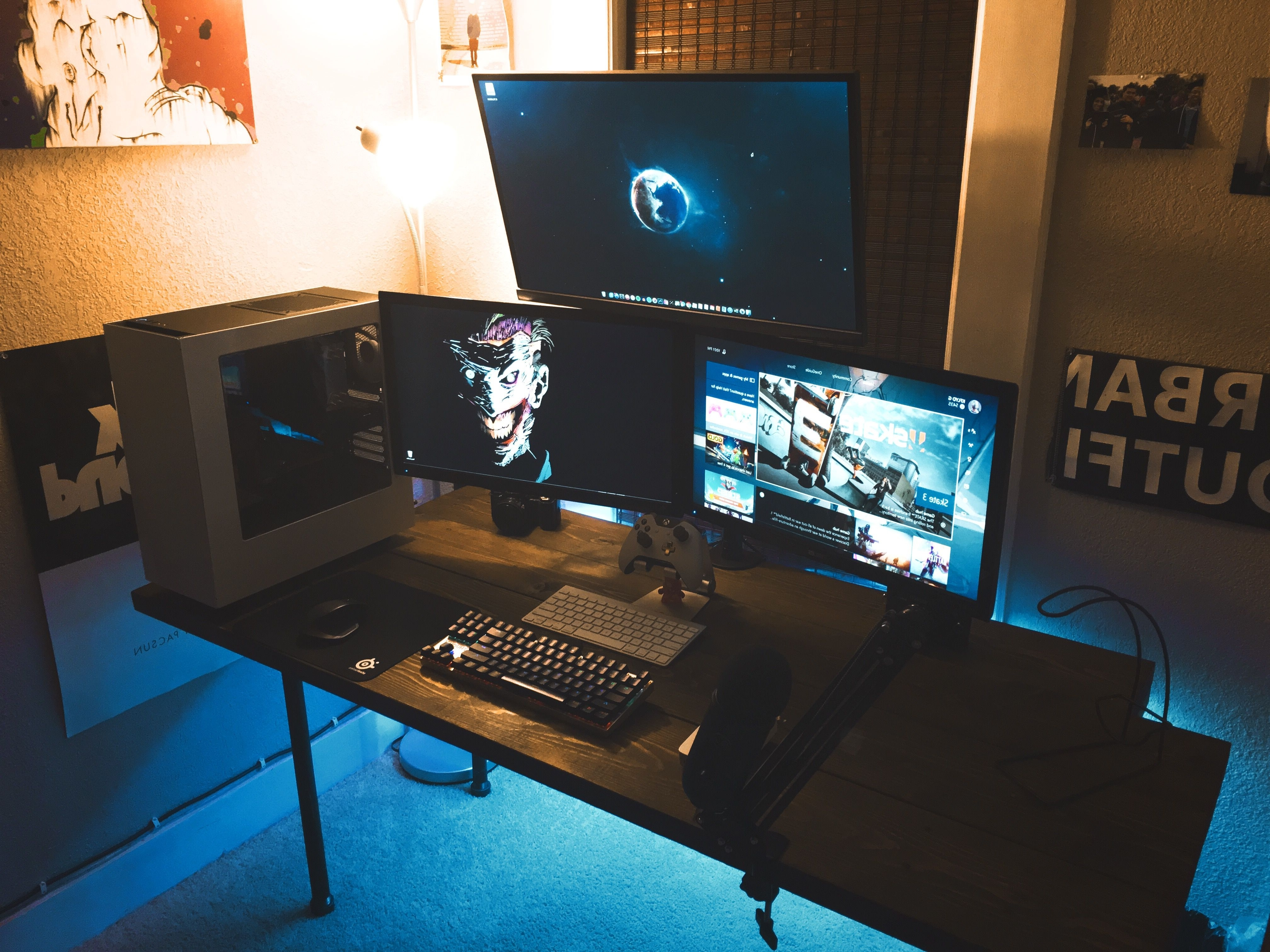 2018 Computer Editing Desks Inside My First Gaming/editing Setup (View 2 of 20)