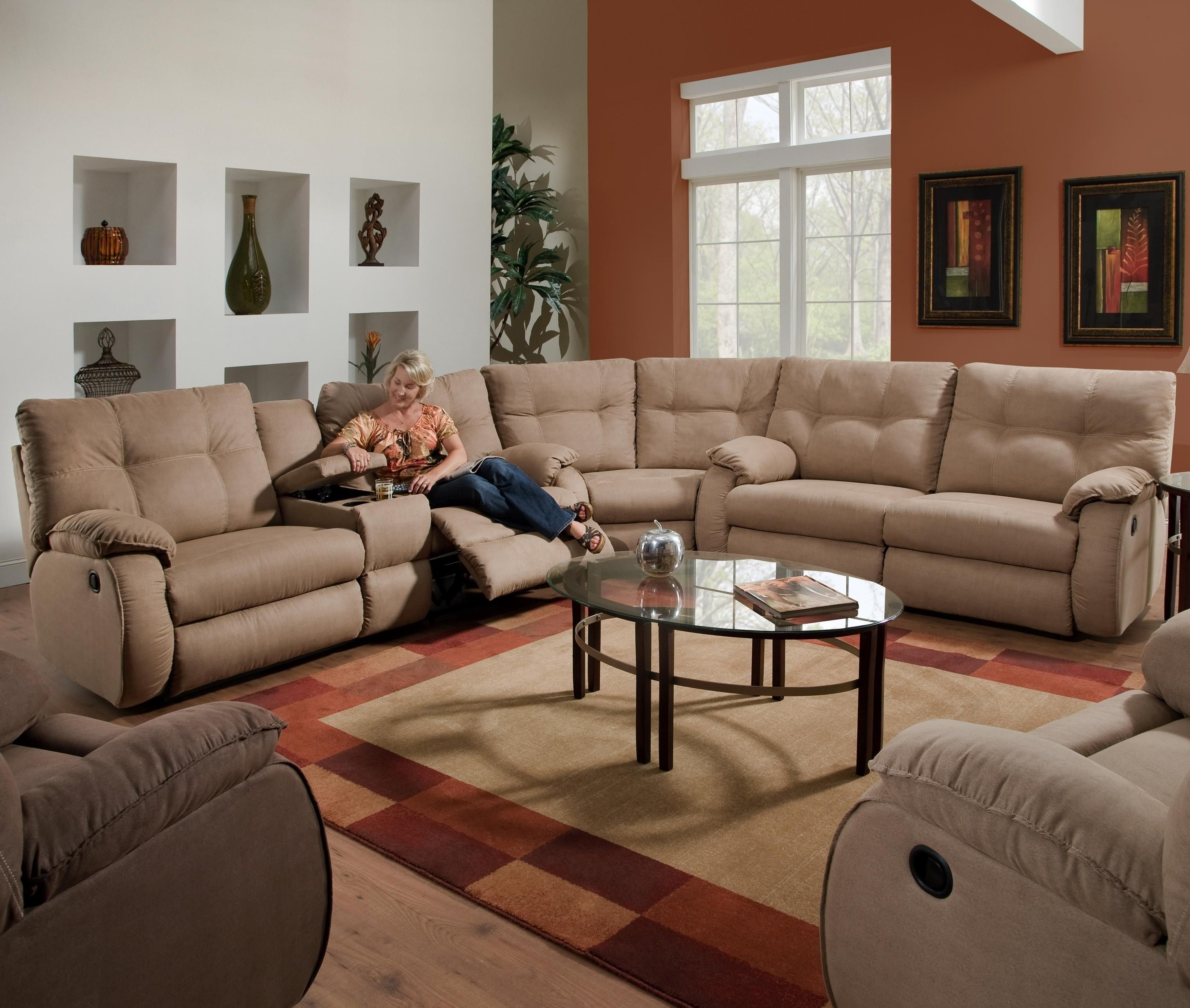 2018 Dodger Reclining Sectional Sofasouthern Motion (View 9 of 20)