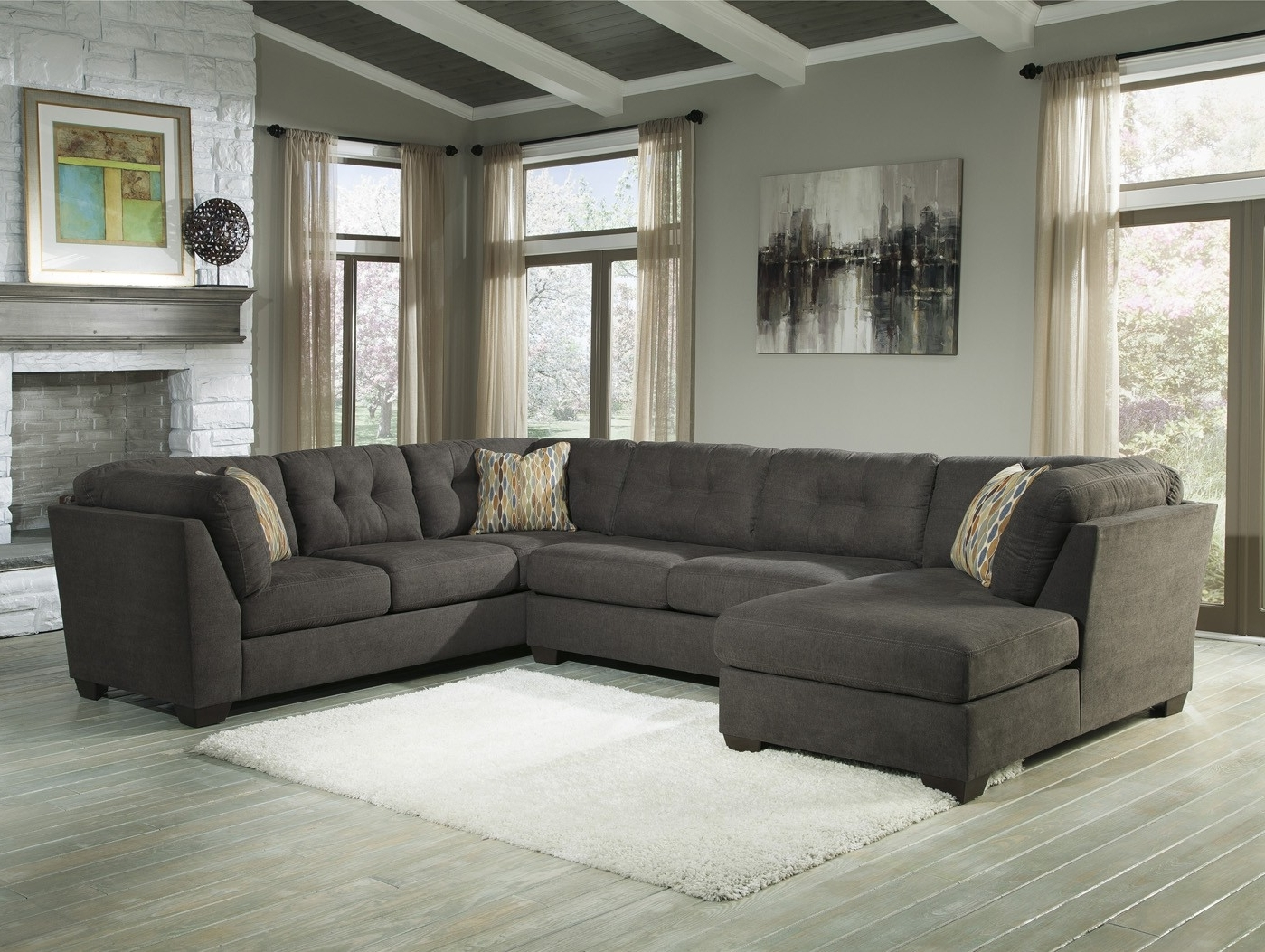 2018 Elk Grove Ca Sectional Sofas For Delta City Steel 3 Piece Sectional Sofa With Left Arm Facing (View 1 of 20)