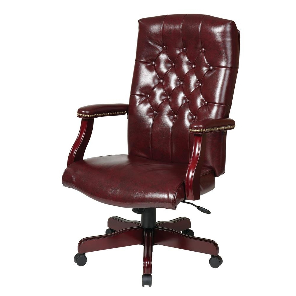2018 Executive Desk Chair Without Arms Regarding Work Smart Traditional With Padded Tex232