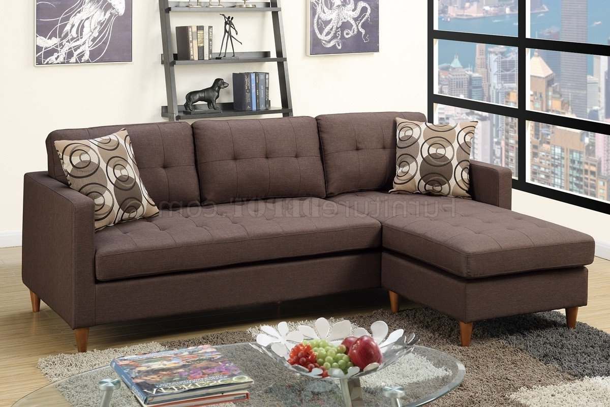 2018 F7086 Reversible Sectional Sofa In Chocolate Fabricboss Inside North Carolina Sectional Sofas (View 5 of 20)