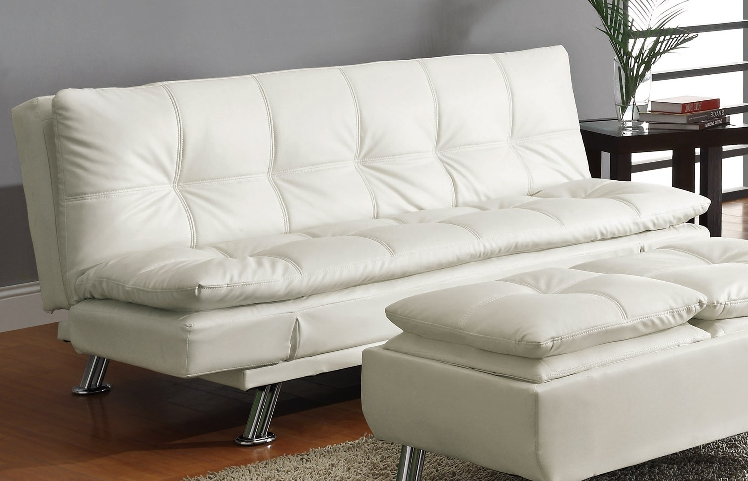 2018 Furniture: Beautiful Living Room Design Ideas With White Leather Within Comfortable Sofas And Chairs (View 3 of 20)