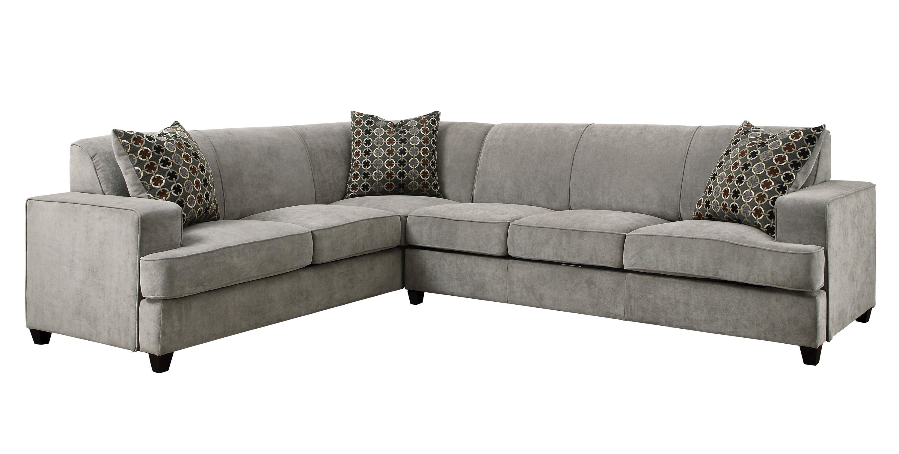 2018 Gallery Furniture Sectional Sofas In Sale: $1458.00 Tess Modern Grey Sectional Sofa With Sleeper (Gallery 16 of 20)