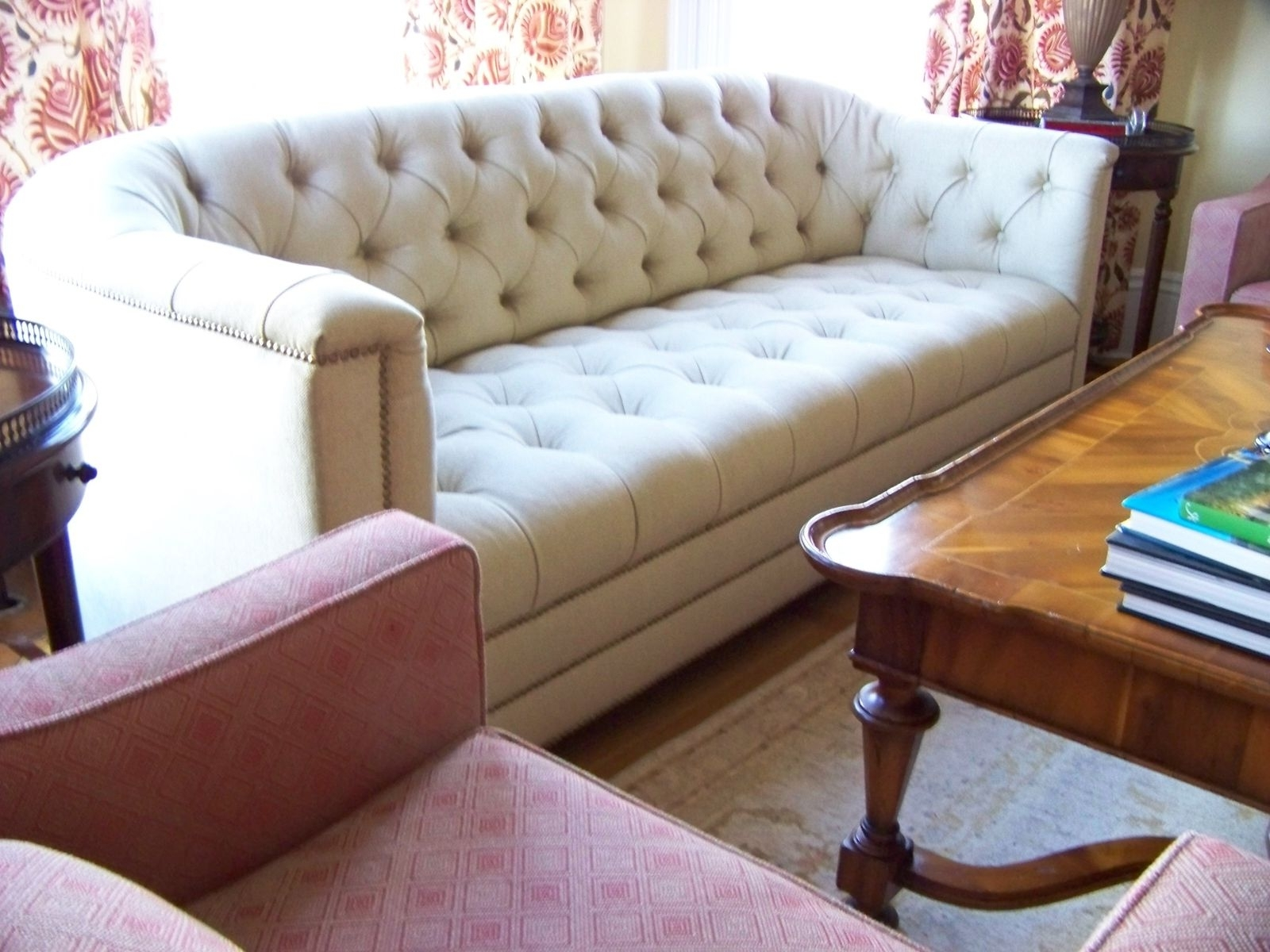 2018 Hand Made Catherine Curved Back Tufted Sofaashley Cunningham For Sectional Sofas With High Backs (View 19 of 20)