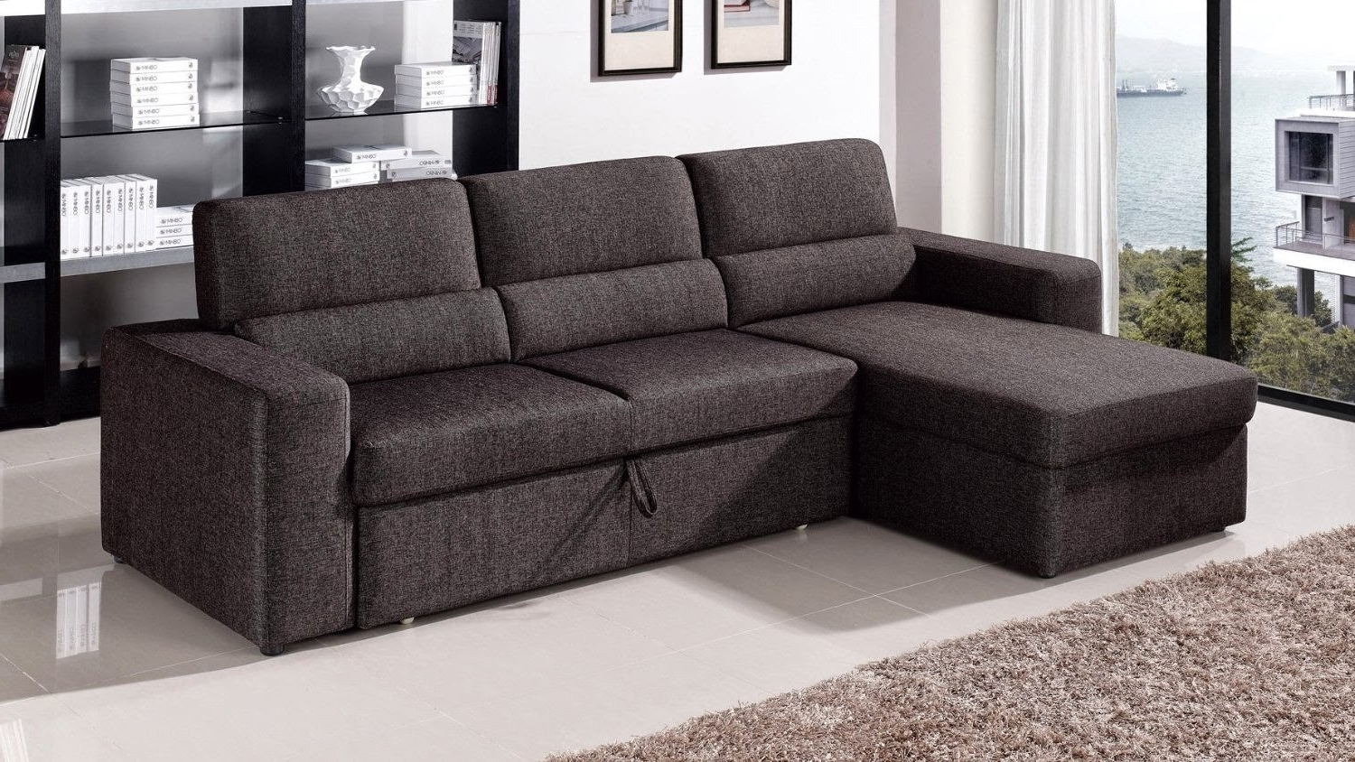 2018 Inspirational Leather Sectional Sofa Pull Out – Mediasupload Intended For Sectional Sofas With Queen Size Sleeper (View 1 of 20)
