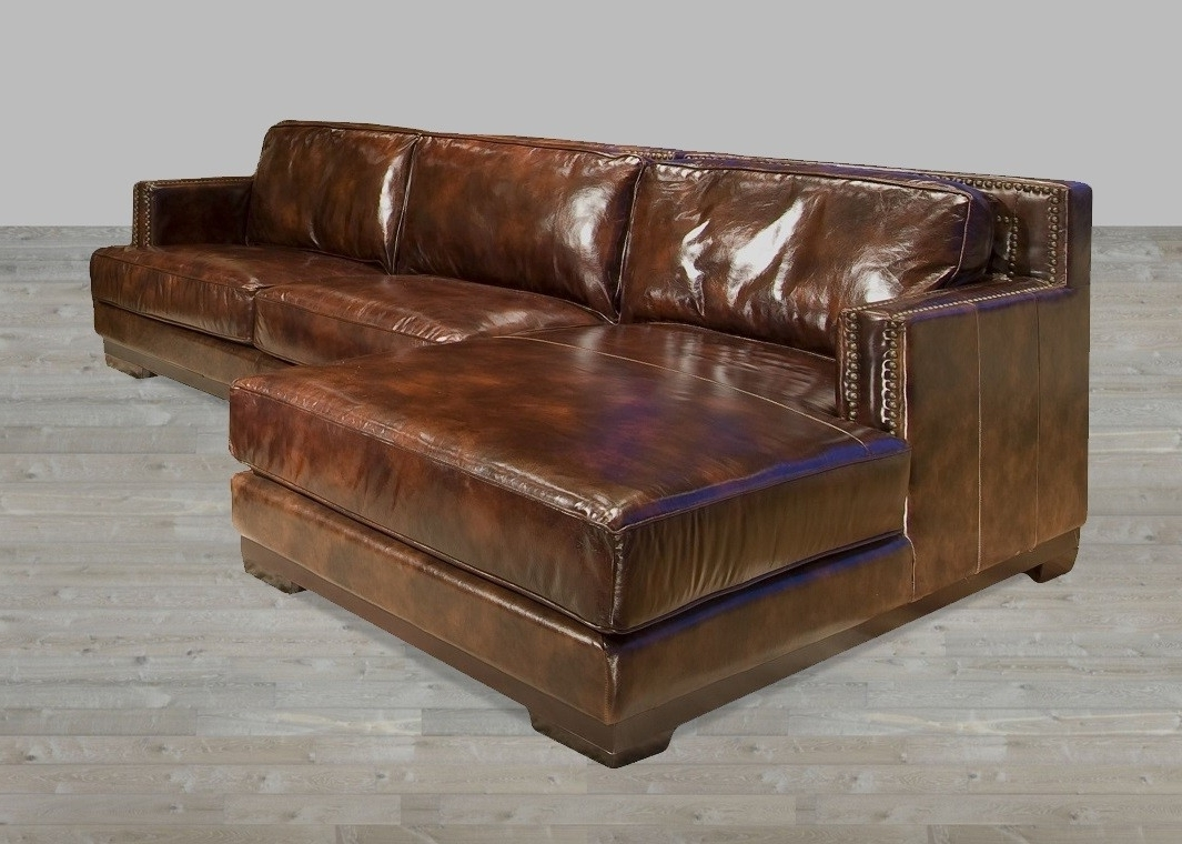2018 Leather Lounge Sofas Intended For Brown Sectional Sofas Lovely L Shaped Brown Leather Sleeper Sofa (View 19 of 20)