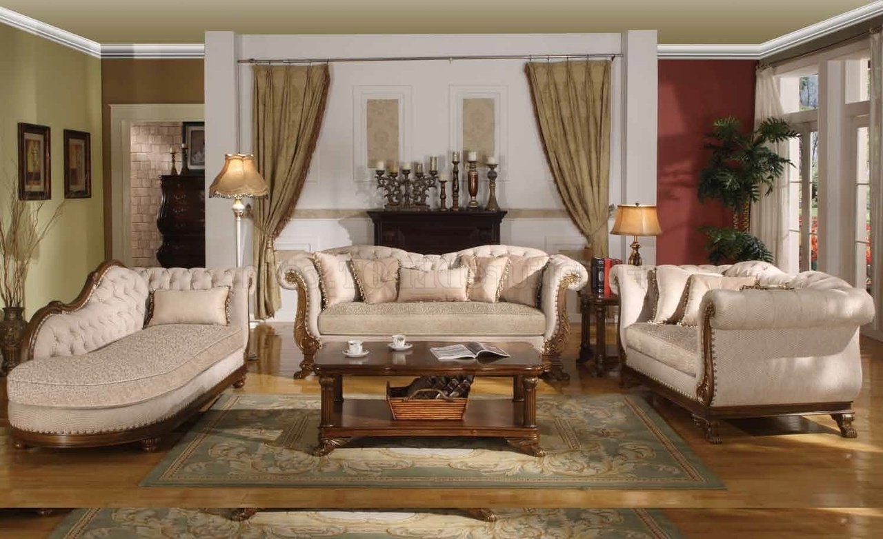 2018 Marcia Traditional Sofa In Fabric W/optional Items With Regard To Traditional Sofas (View 10 of 20)