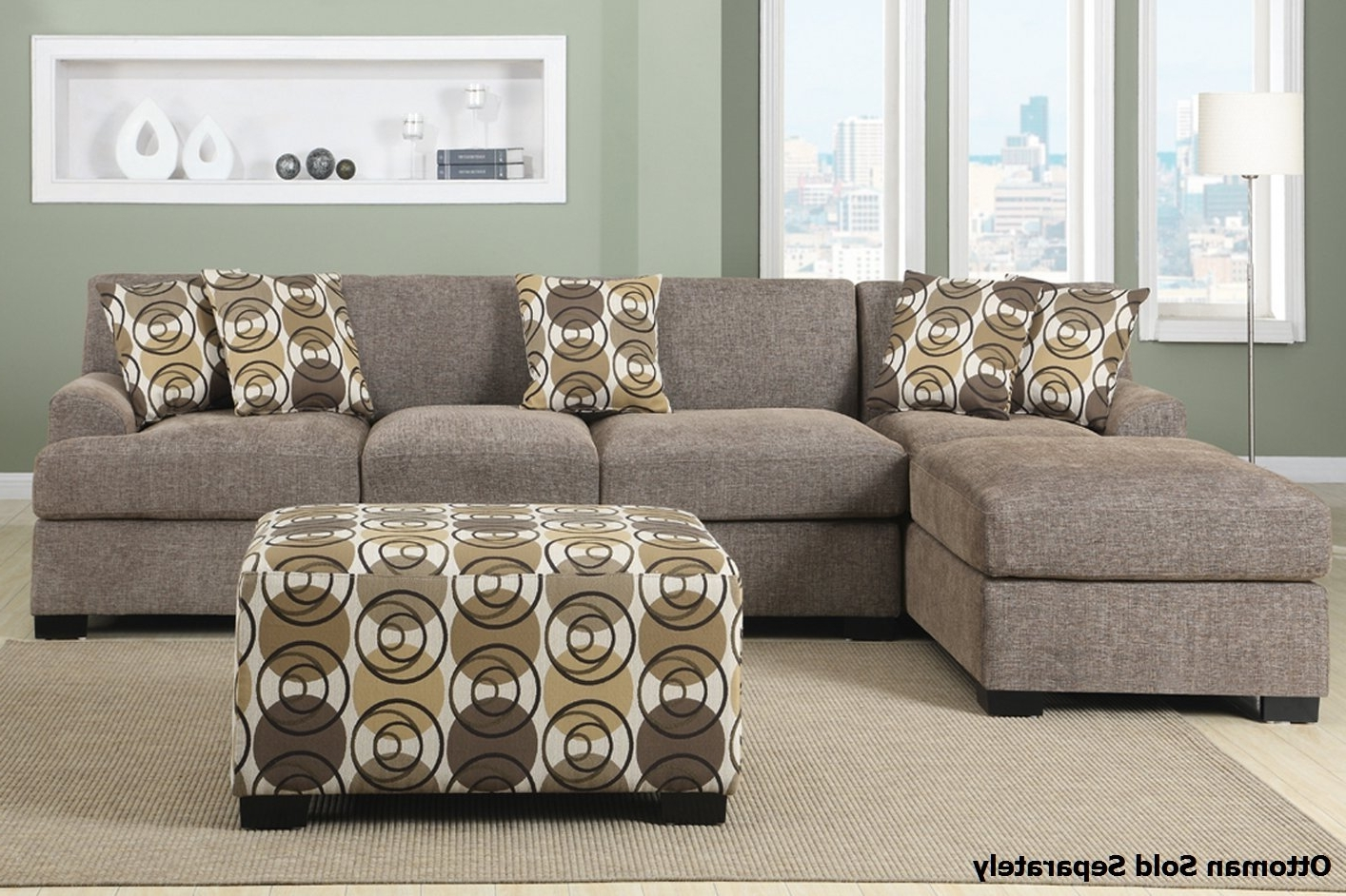 2018 Montreal Iii Beige Fabric Sectional Sofa – Steal A Sofa Furniture Regarding Montreal Sectional Sofas (View 8 of 20)
