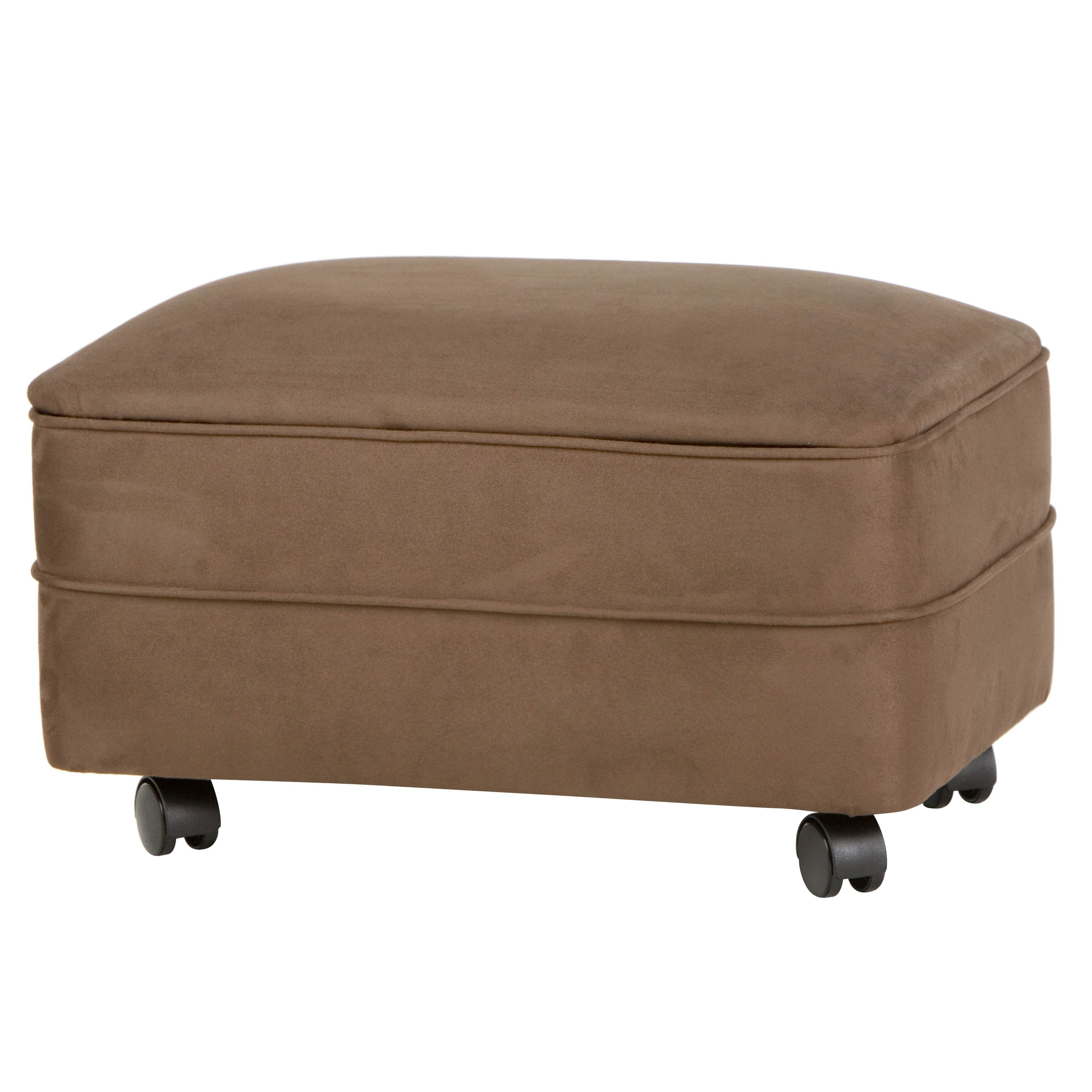 2018 Ottomans With Wheels In Microfiber Storage Ottoman, Footstools And Ottomans With Wheels (View 1 of 20)