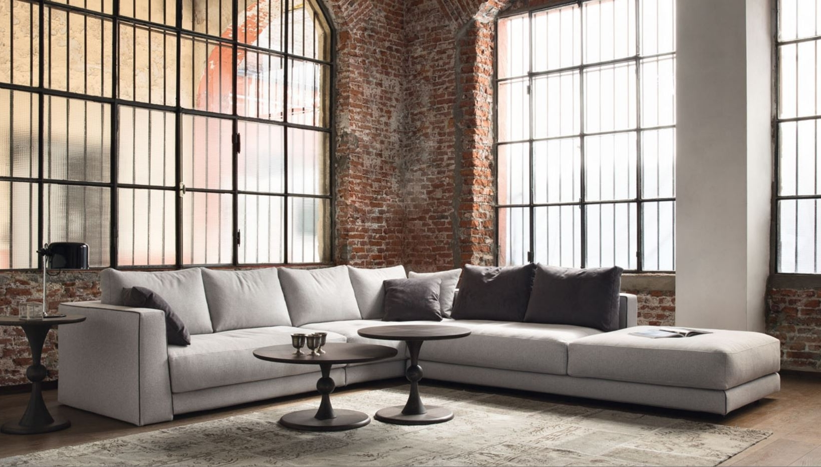 2018 Sectional Sofas At Brick For Contemporary Sectional Couch Best Modern Sectional Sofa Grey (View 18 of 20)