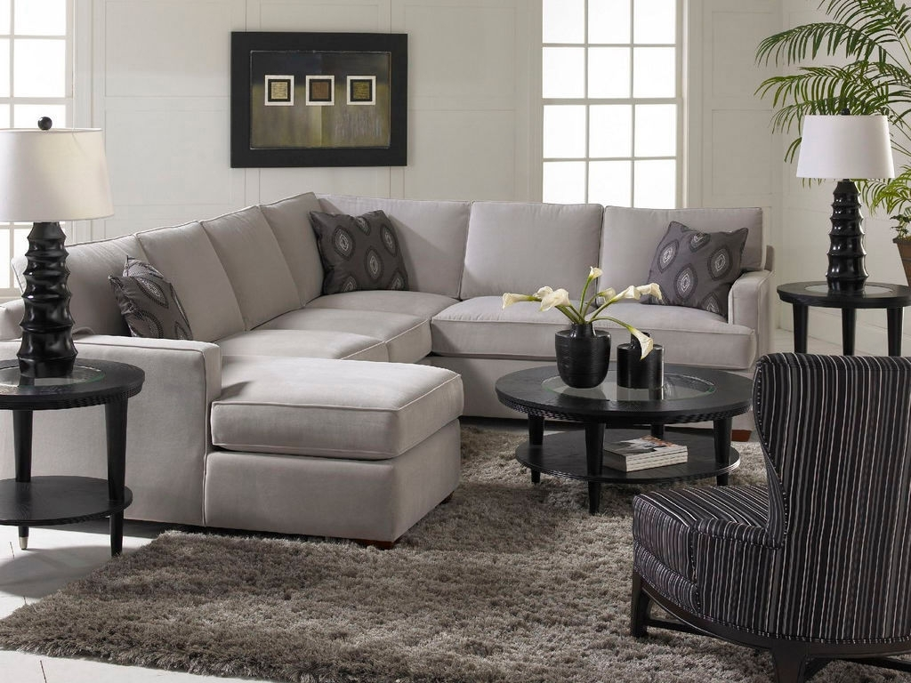 2018 Sectional Sofas In North Carolina Inside Love The Accent Pillows And The Simplicity Of The Gray Living Room (View 13 of 20)
