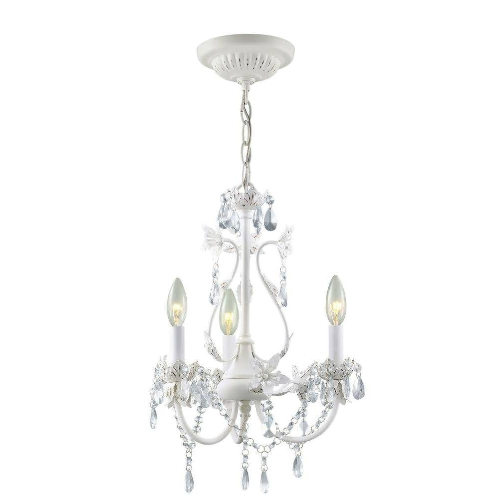 2018 Small White Chandeliers Throughout Chandelier : Shell Chandelier Chandelier Without Lights Small White (View 17 of 20)
