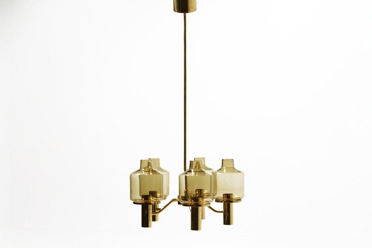 2018 Smoked Glass Chandelier For Smoked Glass Chandelierhans Agne Jakobsson For Markaryd, 1960S (View 2 of 20)