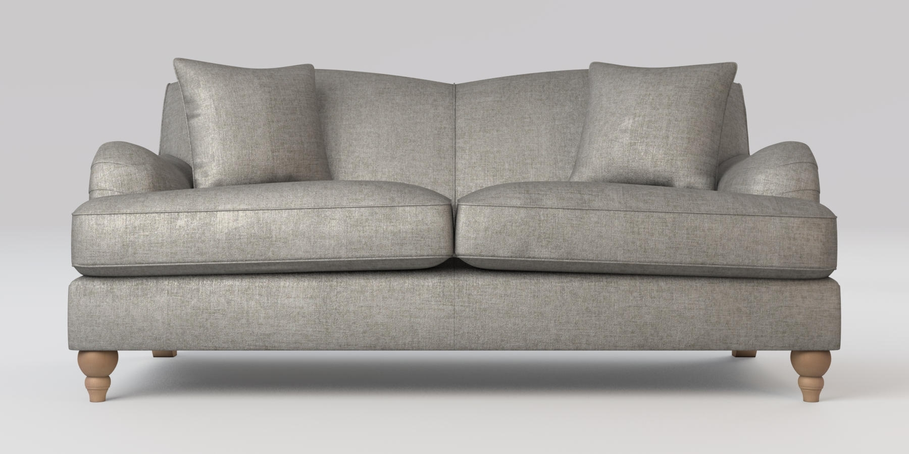 2018 Sofas With High Backs Within Buy Ophelia Fixed Back Medium Sofa (3 Seats) Sumptuous Velour Mid (View 2 of 20)