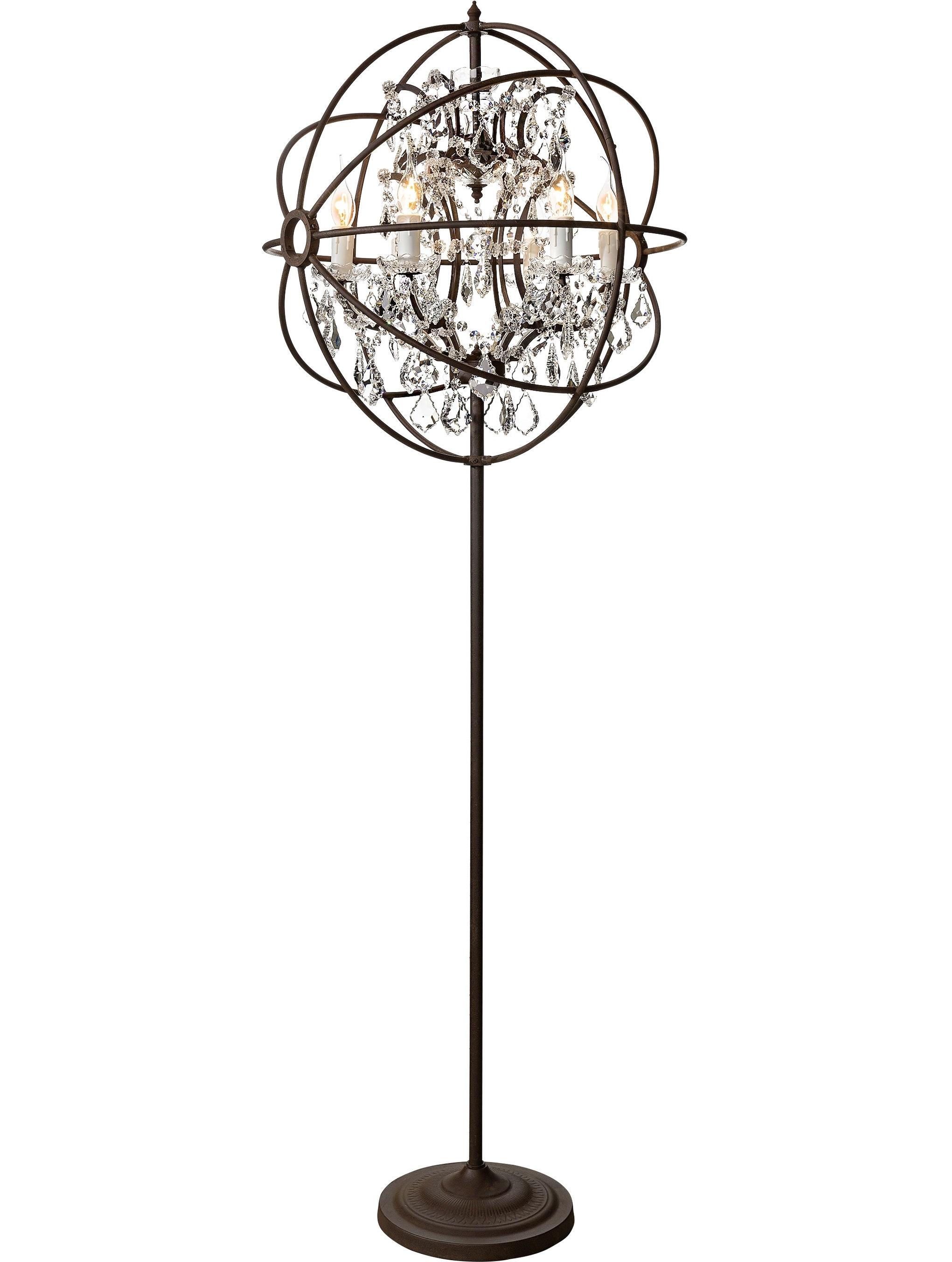 2018 Standing Chandelier Floor Lamp (View 2 of 20)
