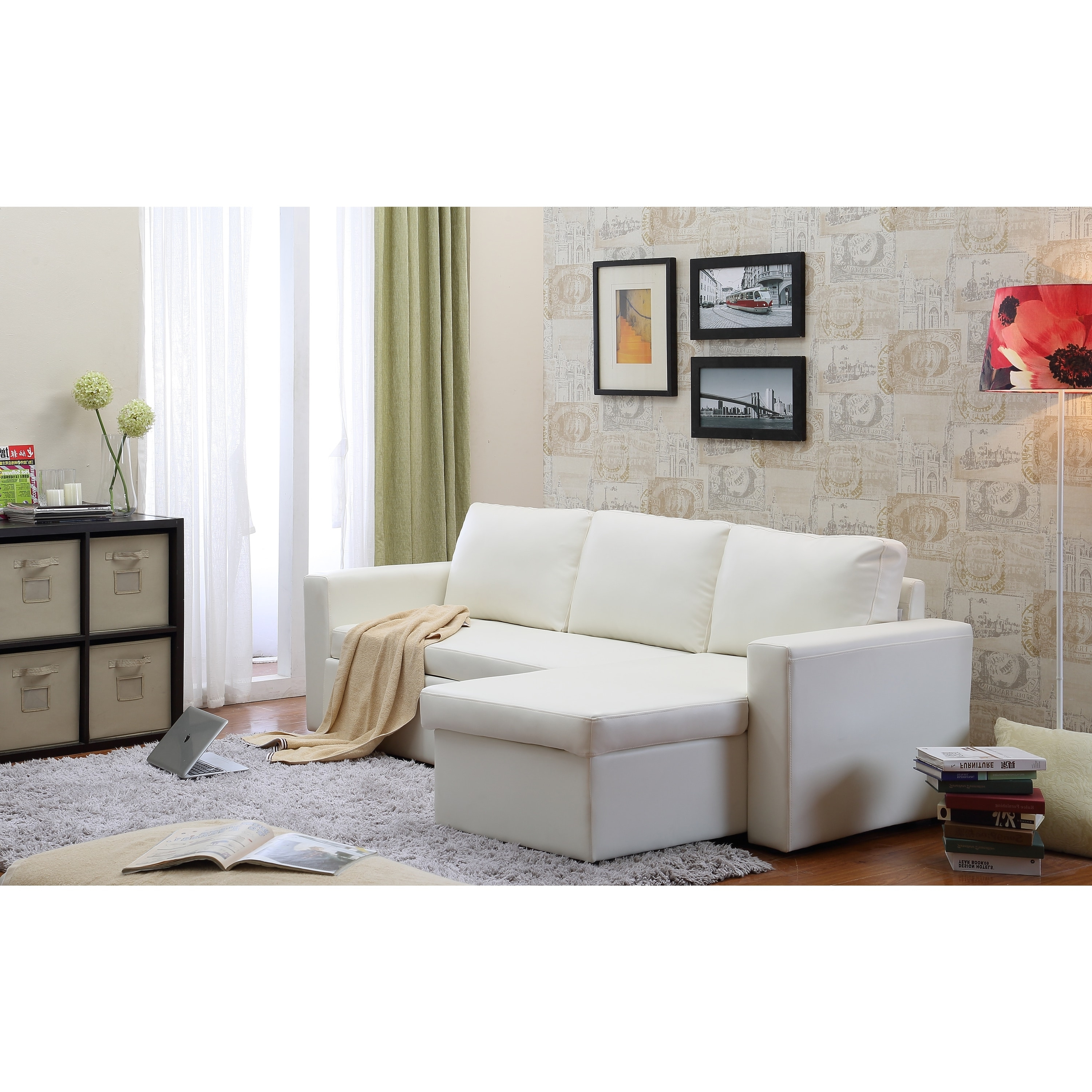 2018 The Hom Georgetown 2 Piece White Bi Cast Leather Sectional Sofa Inside Little Rock Ar Sectional Sofas (View 1 of 20)