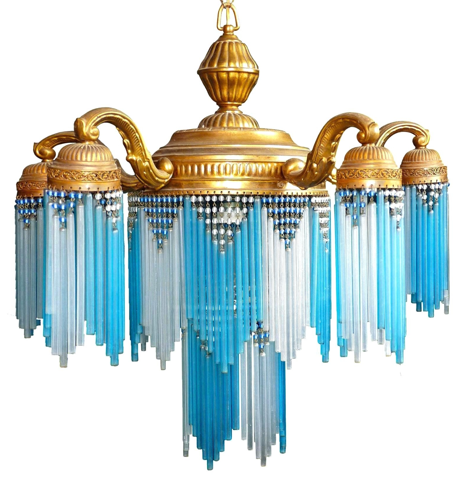 2018 Turquoise Beads Six Light Chandeliers Intended For Lighting : Regina Andrew Turquoise Chandelier Light Wood Diy Small (View 1 of 20)