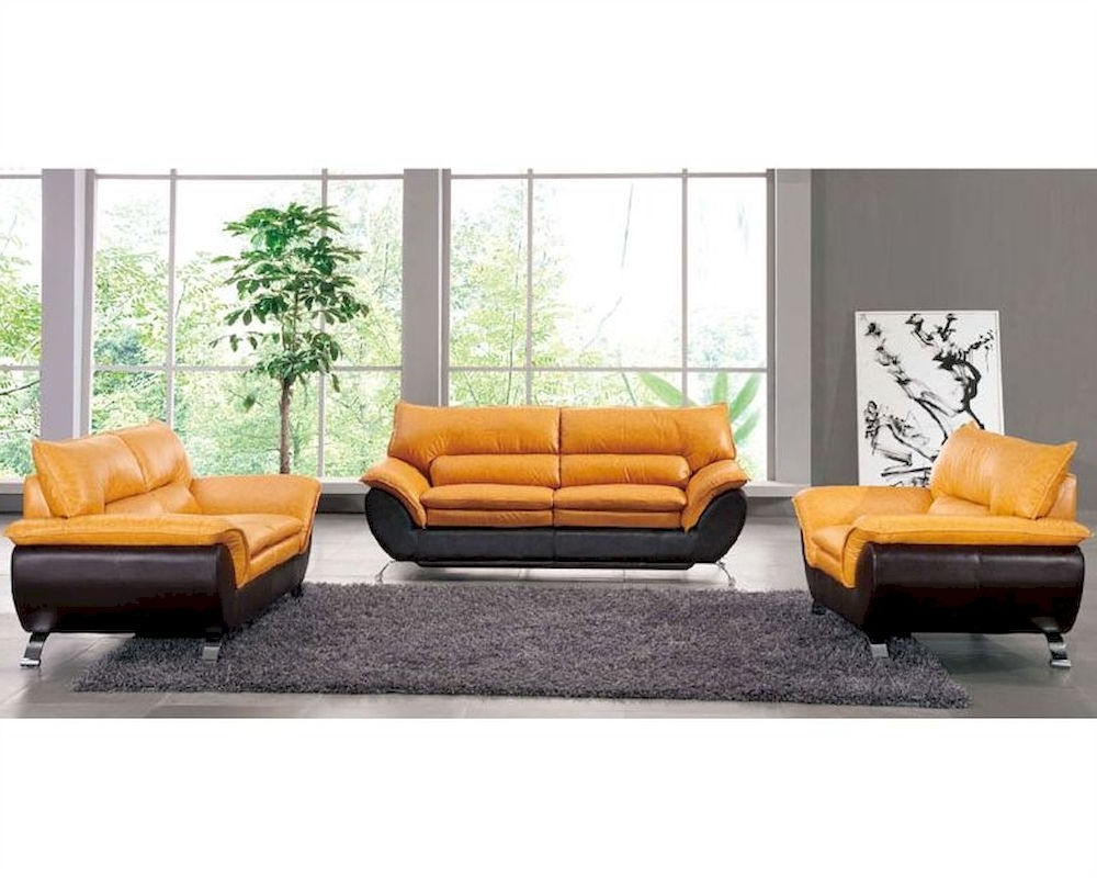 2018 Two Tone Leather Sofa Set European Design 33ss221 Inside Two Tone Sofas (View 2 of 20)