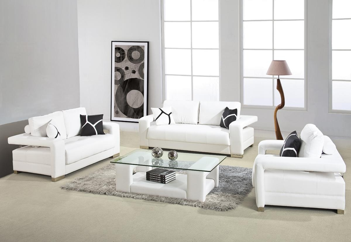 2018 White Modern Style Living Room Ideas — Cabinets, Beds, Sofas And For White Modern Sofas (View 1 of 20)