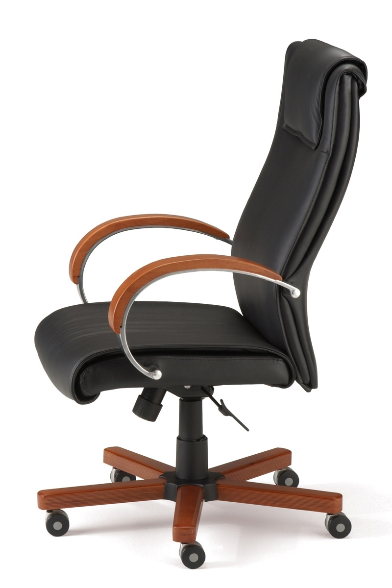 2018 Wood And Leather Executive Office Chairs Within 560 L Ofm – Modern High Back Leather Executive Office Chair (View 1 of 20)