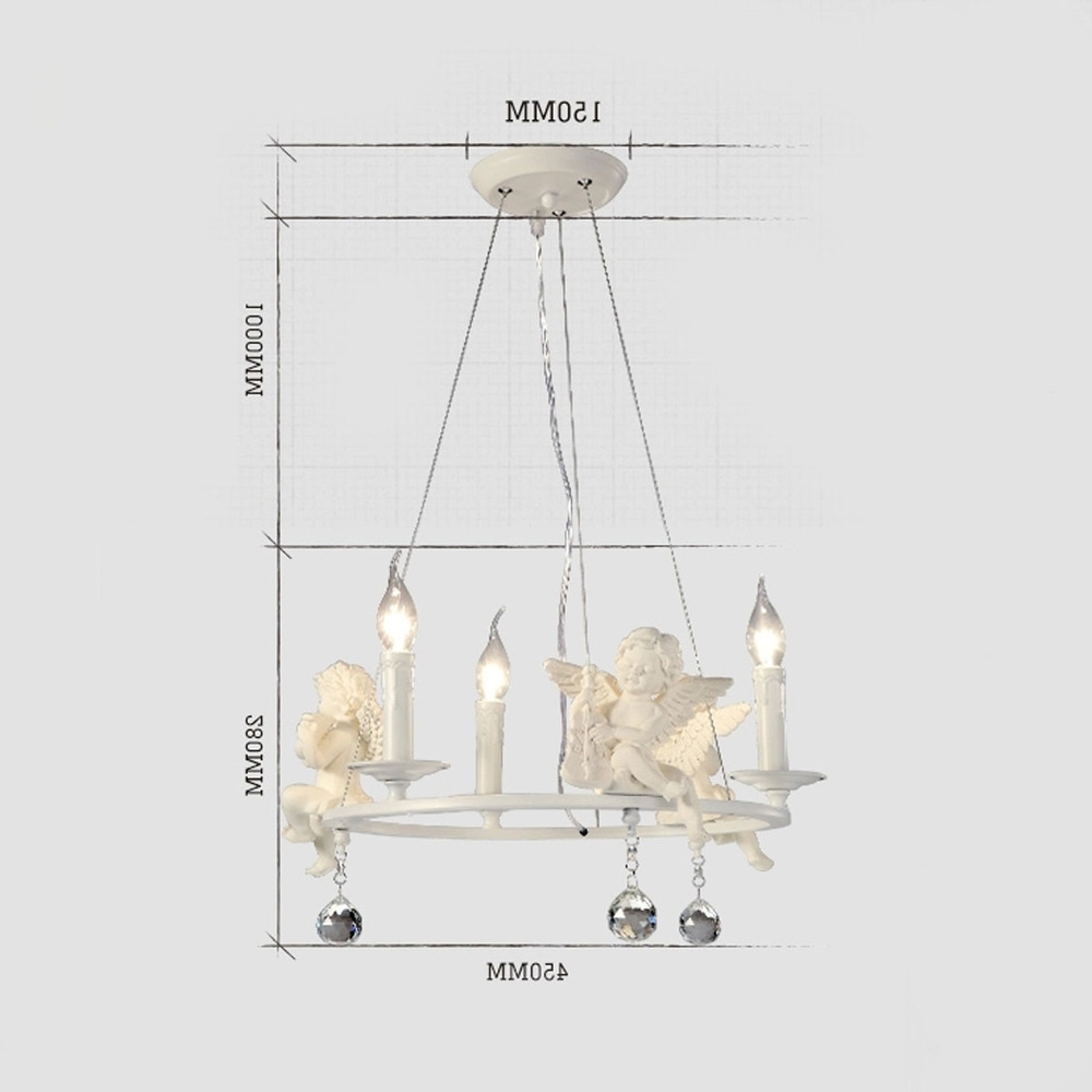 2019 American Country Chandelier Angel Shape Chandeliers White Modern Regarding White Contemporary Chandelier (View 2 of 20)