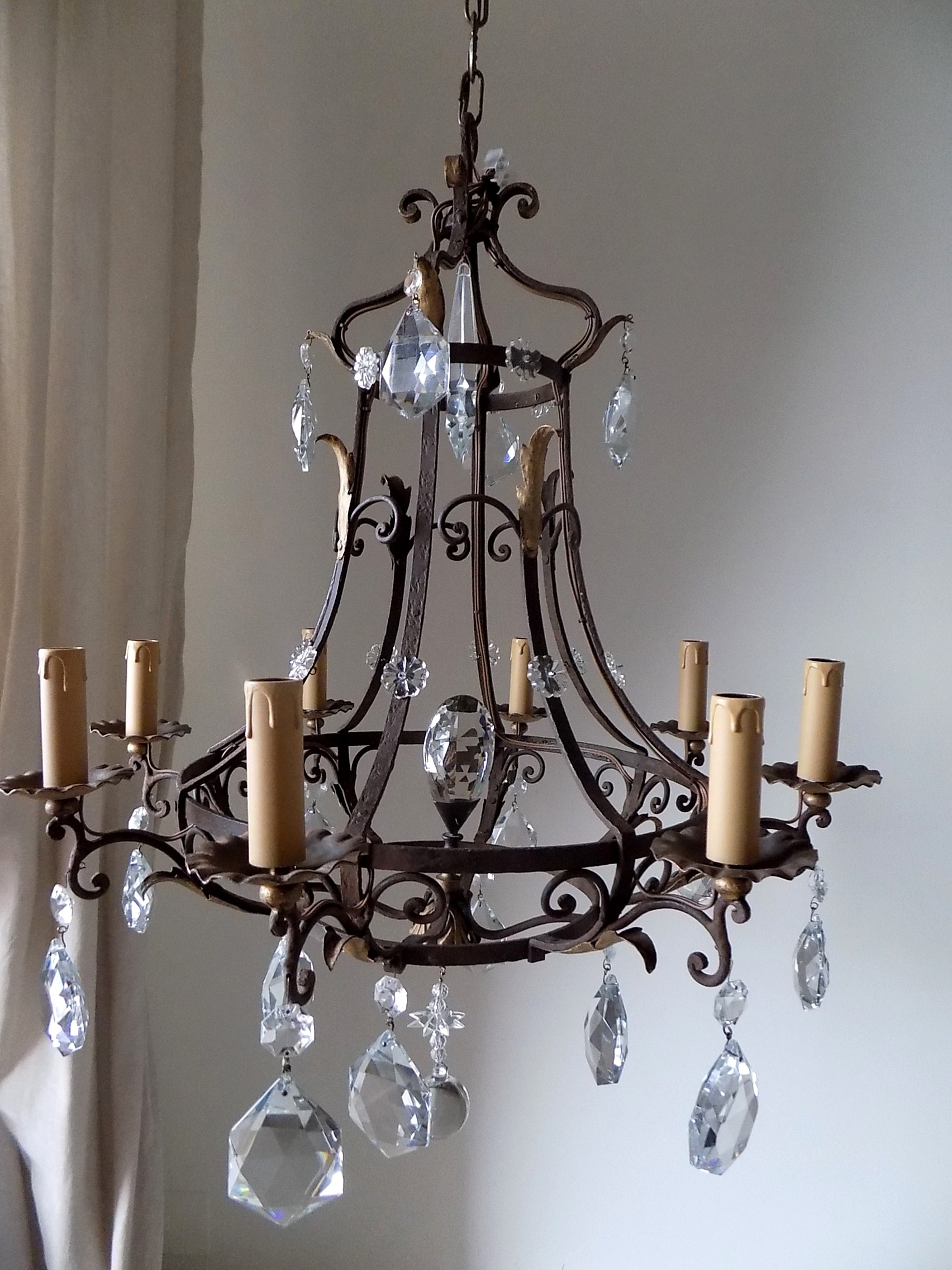 2019 Antique French Massive Hand Forged Wrought Iron Chandelier – Lorella Dia In Wrought Iron Chandeliers (View 3 of 20)